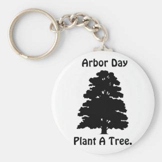 Arbor Day;Plant A tree Key Ring