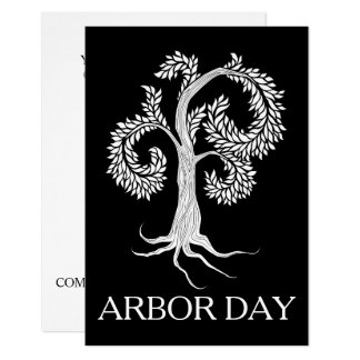 arbor day tree by abbey foster card