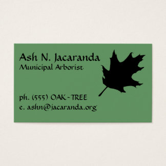 Arborist Business Card