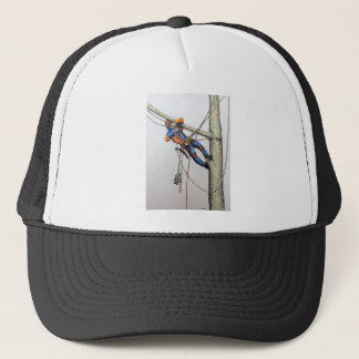 Arborist tree surgeon christmas card trucker hat