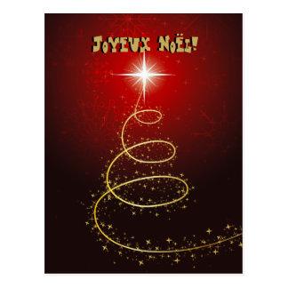 Arbre de Noël Abstrait rouge cartes postales Postcard