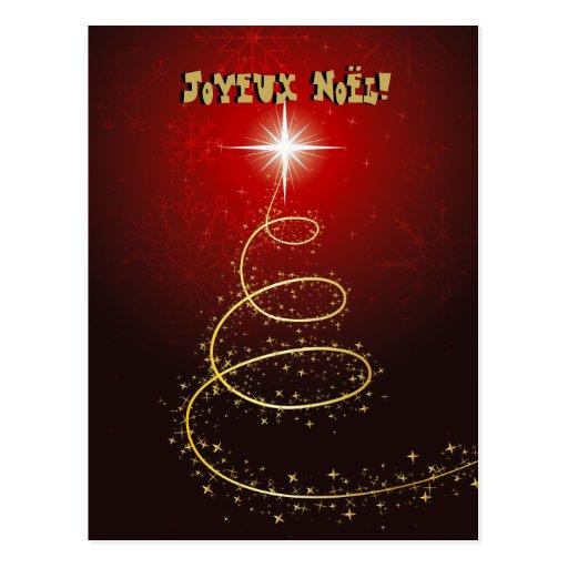Arbre de Noël Abstrait rouge cartes postales Post Cards