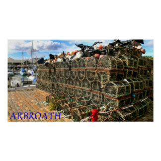 Arbroath Harbour & Marina, Scotland Poster