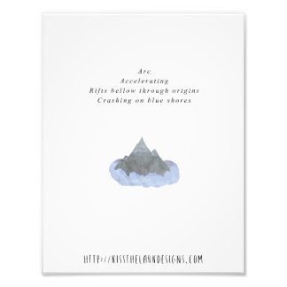 Arc - 8.5 x 11 Poetry Printable Photo Print