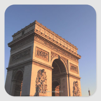 ARC DE TRIOMPHE and EIFFEL tower Square Sticker