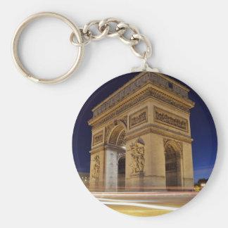 Arc De Triomphe at night Key Ring