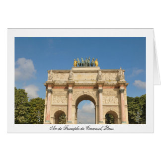 Arc de Triomphe du Carrousel in Paris, France Card