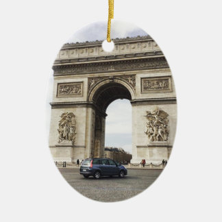 Arc de Triomphe, Paris Ceramic Oval Decoration