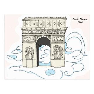 Arc De Triomphe - Paris, France Postcard