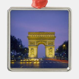 Arc de Triomphe, Paris, France, Silver-Colored Square Decoration