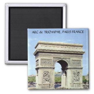 ARC de TRIOMPHE, PARIS FRANCE Square Magnet