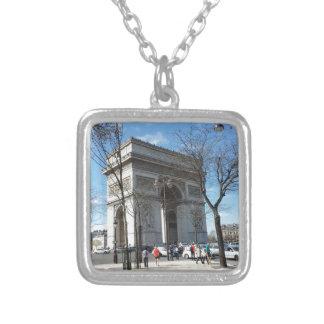 Arc de Triomphe, Paris, France Square Pendant Necklace
