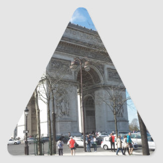 Arc de Triomphe, Paris, France Triangle Sticker