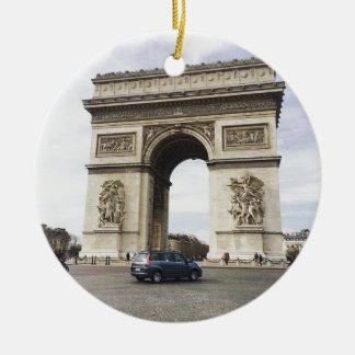 Arc de Triomphe, Paris Round Ceramic Decoration