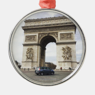 Arc de Triomphe, Paris Silver-Colored Round Decoration