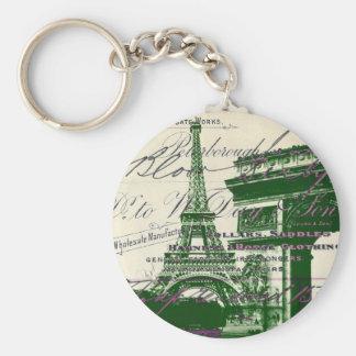 arc de triomphe vintage paris eiffel tower key chains