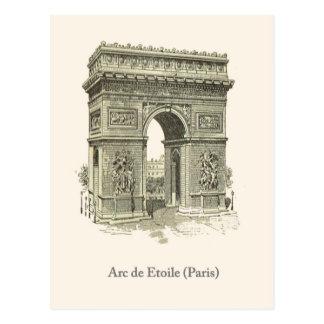 Arc de Triumphe, Paris, Etoile Postcard