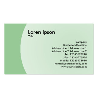 Arc Design - Faded Green Pack Of Standard Business Cards