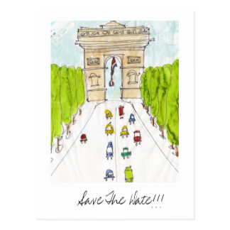 arc d'triomphe, Save The Date!!! Postcard