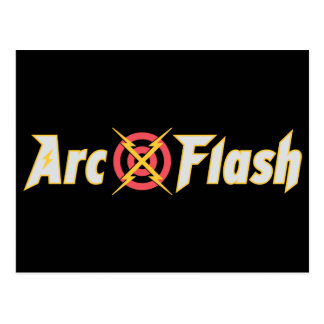 Arc Flash Black Postcard