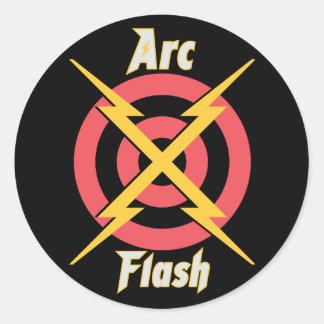 Arc Flash Classic Round Sticker