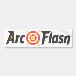 Arc Flash White Bumper Sticker
