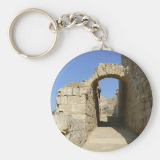 Arc in ancient Caesarea Basic Round Button Key Ring