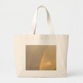 Arc in sky large tote bag