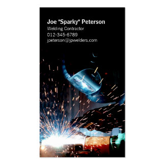 Arc Welder Welding Business Card Torch Sparks