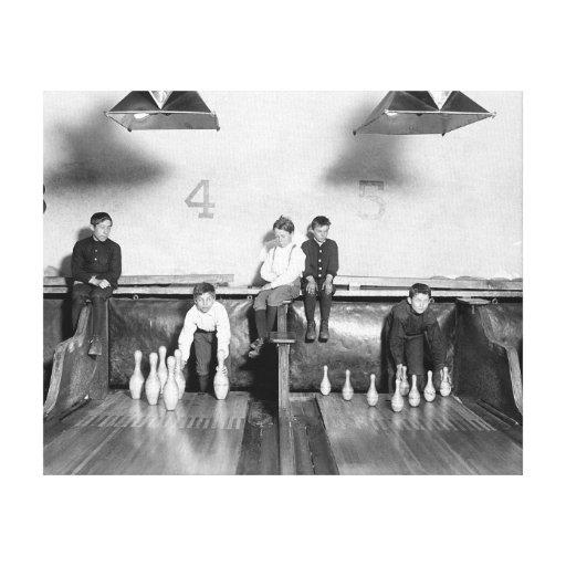 Arcade Bowling Alley, 1909 Gallery Wrap Canvas