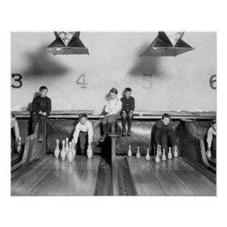 Arcade Bowling Alley, 1909 Posters