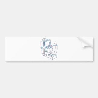 Arcade Driver Bumper Sticker
