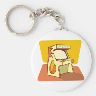 Arcade machine basic round button key ring