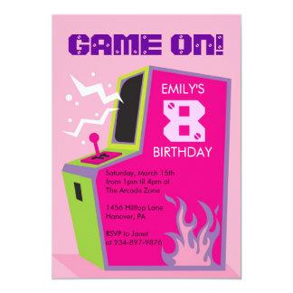 Arcade Video Game Birthday Party Invitations