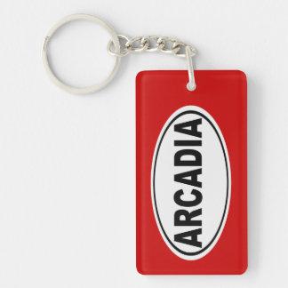 Arcadia California Double-Sided Rectangular Acrylic Key Ring
