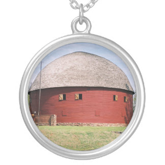 Arcadia Round Barn Silver Plated Necklace