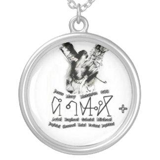 arcangelo-erzengel-archangel-michael-michele-scult silver plated necklace