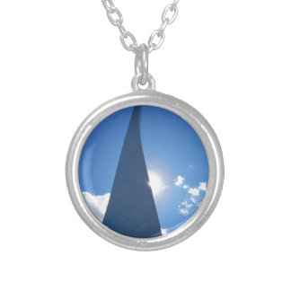 Arch-1-leg Silver Plated Necklace