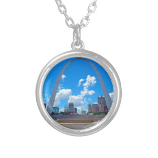 Arch-from-boat Silver Plated Necklace