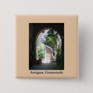 Arch in Antigua 15 Cm Square Badge