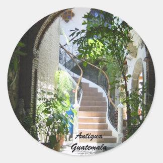Arch in Guatemala Classic Round Sticker