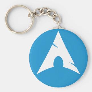 Arch Linux Logo Button Key Ring