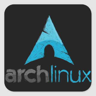 Arch Linux Logo Square Sticker