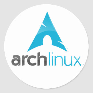 arch linux soon classic round sticker
