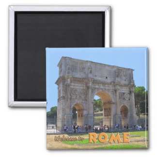 Arch of Constantine Rome Square Magnet