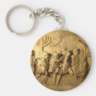 Arch of Titus Basic Round Button Key Ring