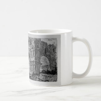 Arch of Titus in Rome by Giovanni Battista Piranes Basic White Mug