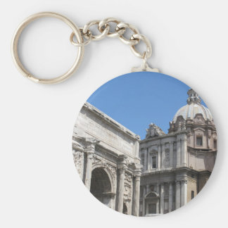 Arch of Titus, Rome -   Classical Architecture Basic Round Button Key Ring