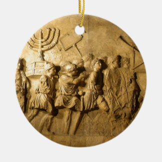Arch of Titus Round Ceramic Decoration
