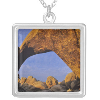 Arch Rock at Joshua Tree National Park in Square Pendant Necklace
